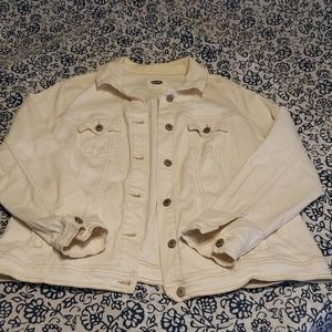 Old Navy 2x White Denim Jacket see pictures